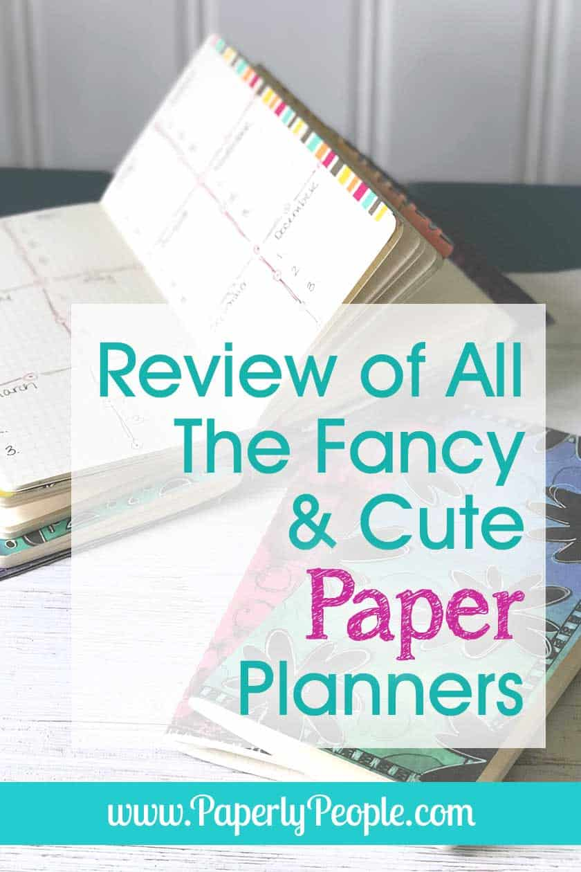 Review of All The Fun and Cute Paper Planners... All of the best paper planners reviews. Ideas for which planners will be the best for your home, business and life organization. Includes travelers notebook, journals, bullet journals and weekly planners. #planner #planners