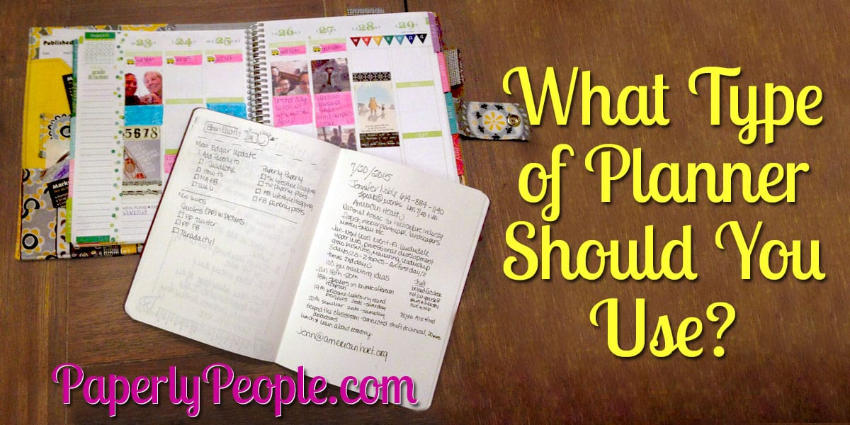 What Type of Planner Should You Use? | Choosing Your Planner