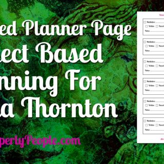 Customized Planner Page - Donna Thornton