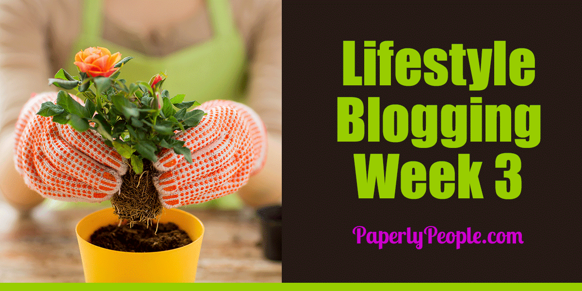 Lifestyle Blogging - Week 3 Paperly People