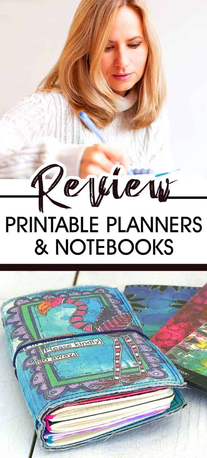Why I LOVE Using Printable Planners & Notebooks... A great comparison between notebooks, journals and printable planner pages for goal setting, keeping a calendar and managing your to do list! Includes reviews of travelers notebooks, 3 ring binders and ARC style disc bound planners. #planner #planners #travelersnotebook