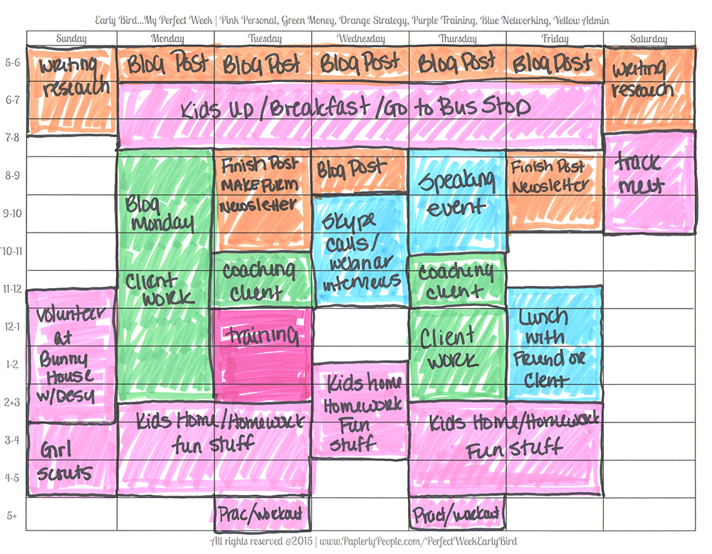 Blue Is For Networking - Printable Planners Perfect Week