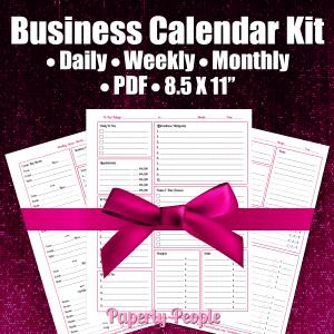 Business planner calendar kit.