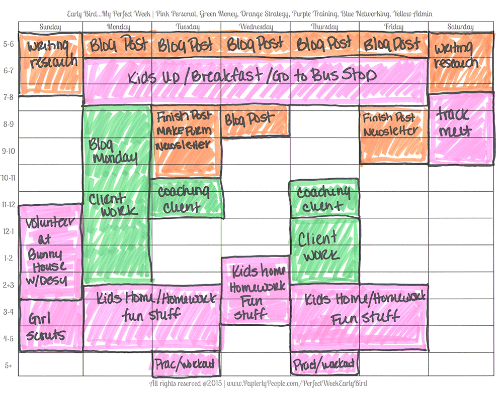 Orange Is For Strategy - Printable Planners Perfect Week