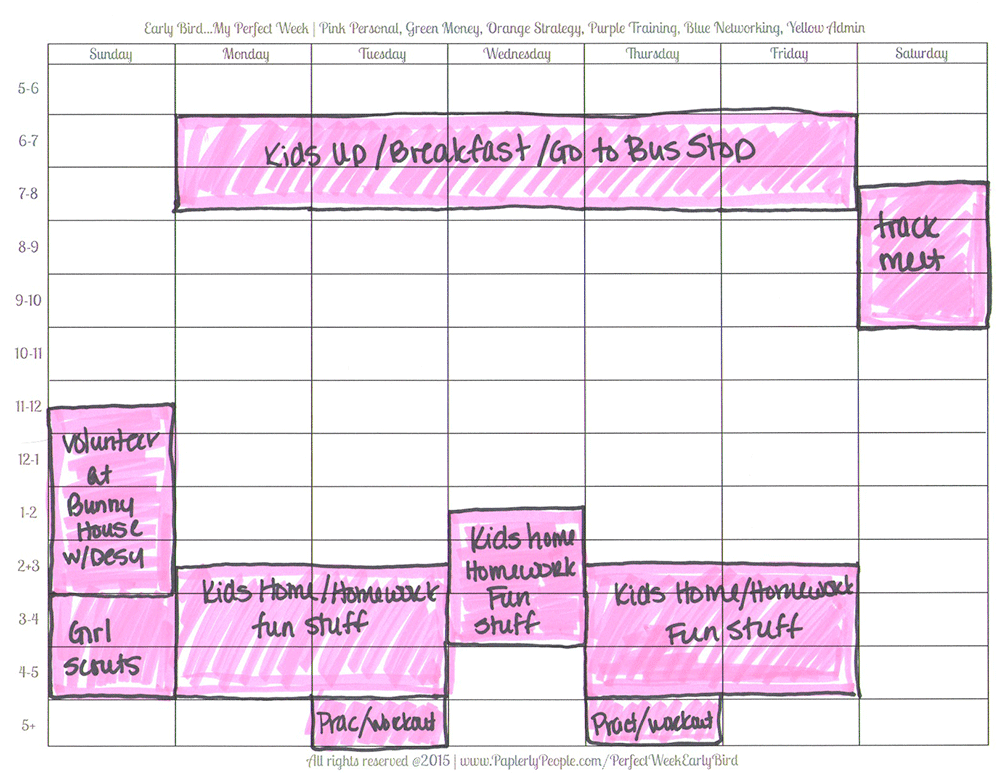 Pink Is For Personal - Printable Planners Perfect Week