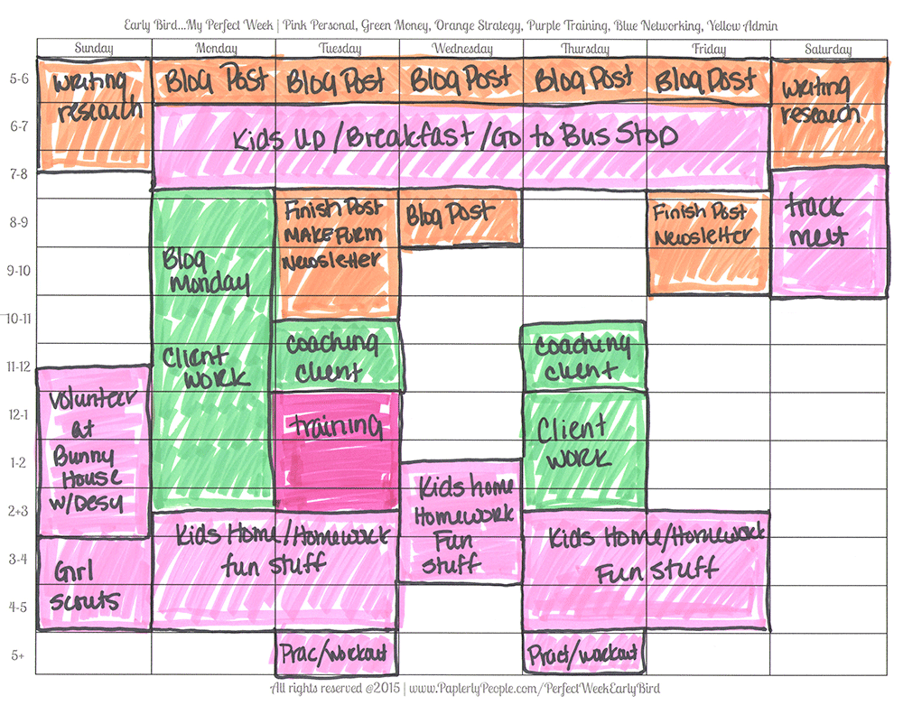 Purple Is For Training - Printable Planners Perfect Week