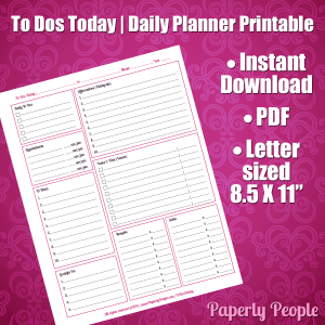 Daily Printable Planner Page