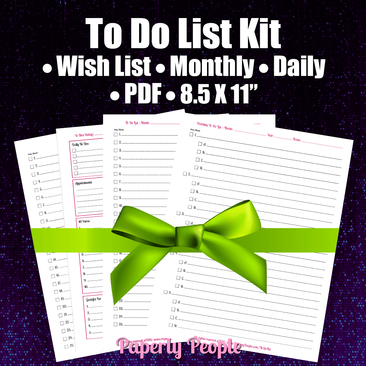 To Do List Kit - Paperly People