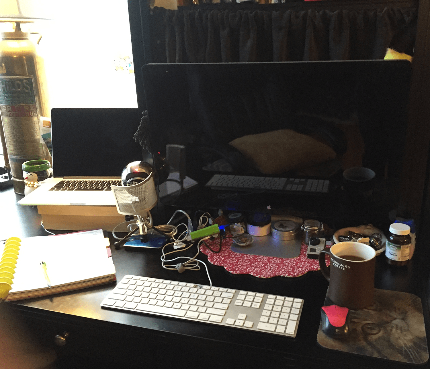 My business desk area - work station
