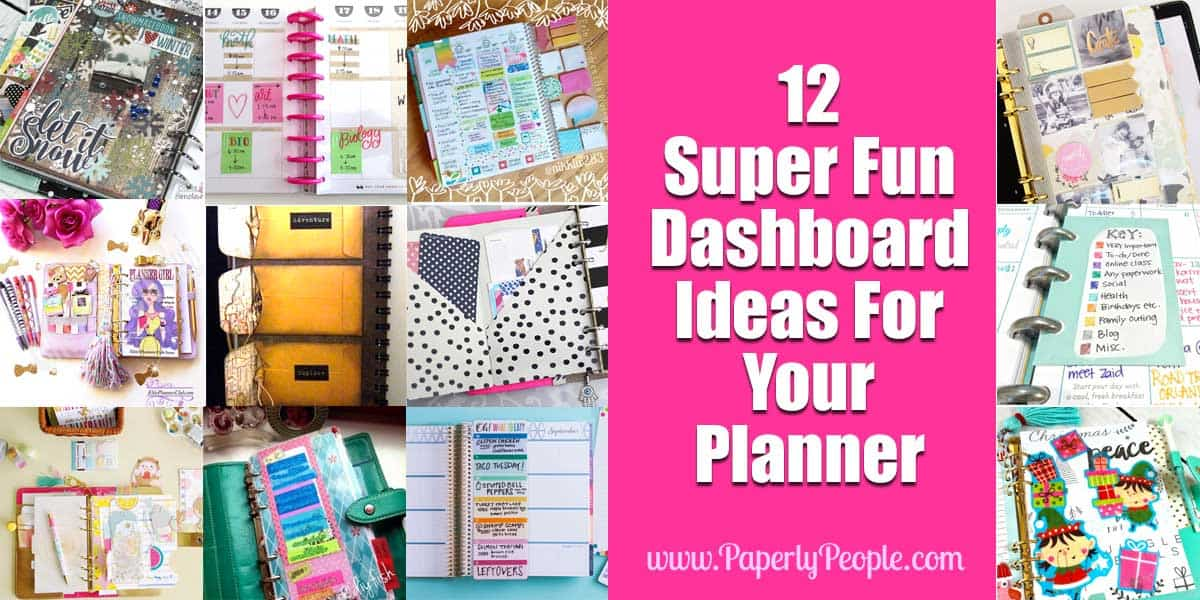12 Super Fun Ideas For You Planner | Paperly People