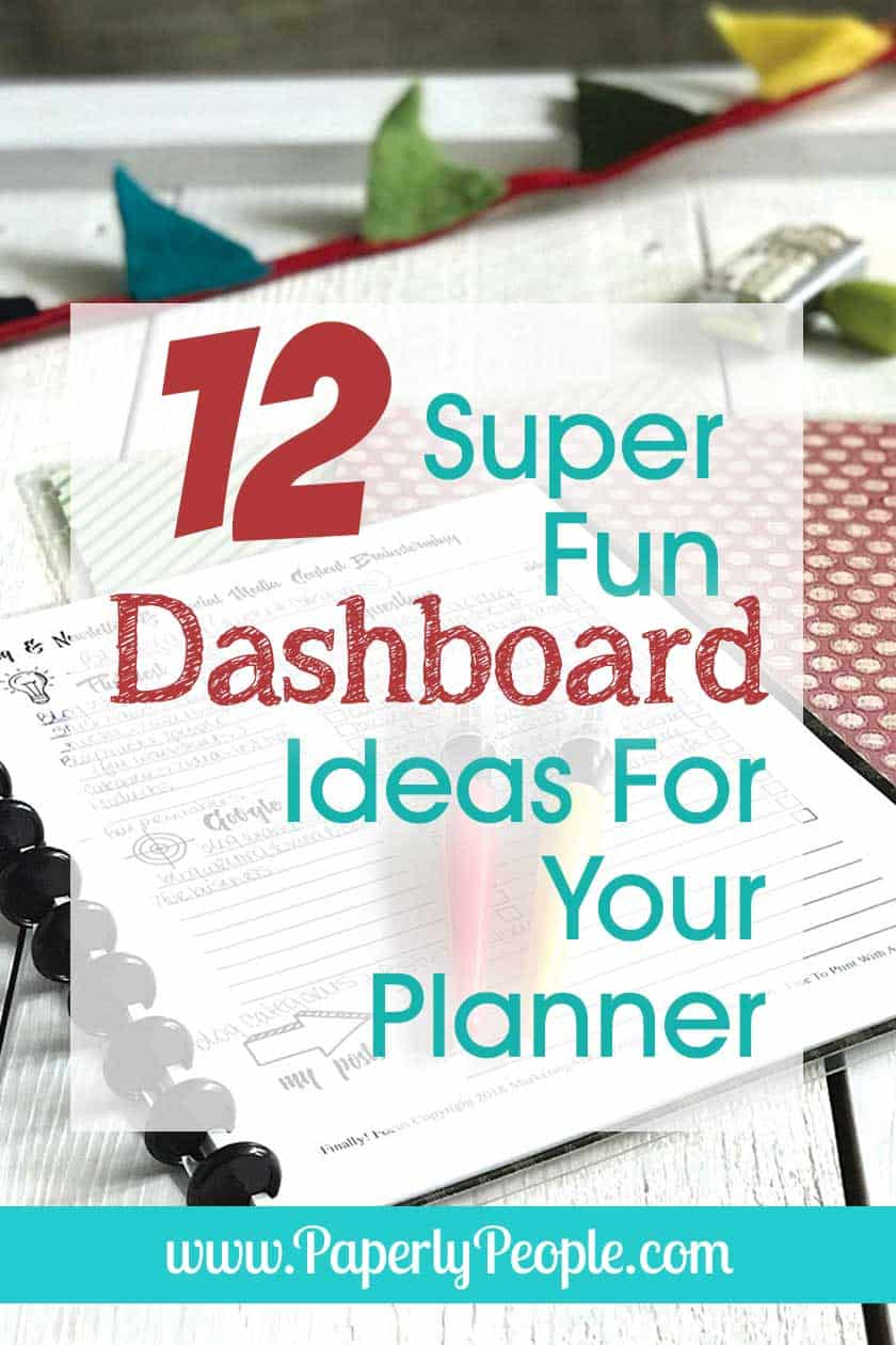 12 Super Fun Dashboard Ideas For Your Planner... I have been thinking about a couple of dashboard ideas for my diy planner and OF COURSE, I wanted to see what all the other creative peeps were doing. Great tips, ideas and inspiration for dashboard design and accessories! #planner #plannernerd