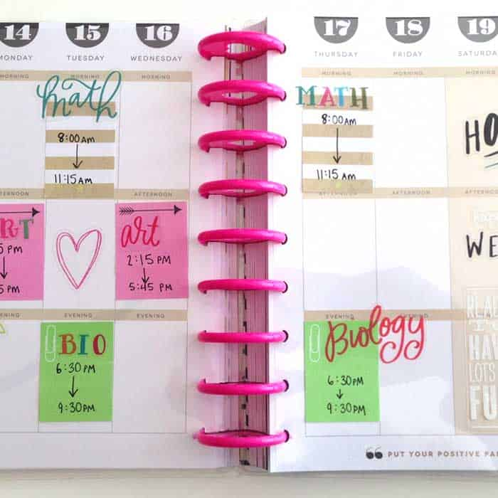Happy Planner Clear Dashboard For Classes