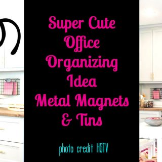 Super Cute Office Organizing Metal Magnets and Tins