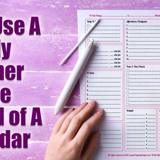 Why I Use A Daily Planner Page Instead of A Calendar