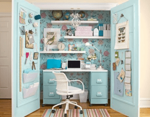 Hiding Your Filing Cabinets, Blue Closet