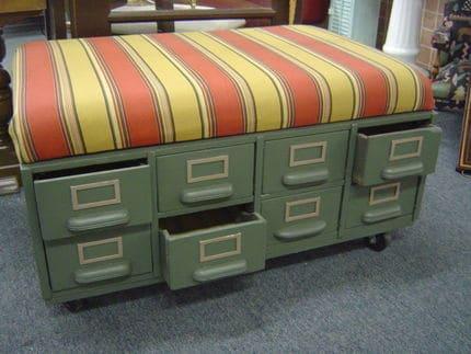 File Box Ottoman | Source Junk Market Style