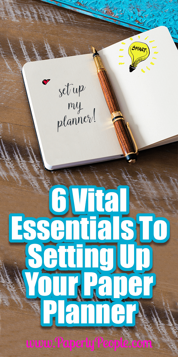 6 Vital Essentials To Setting Up Your Paper Planner... I have been using a paper planner for years! Sometimes they were fancy and fun, and more recently I have switched to using a full sized paper planner. But there are some things that I have found are need for ANY planner you are using!