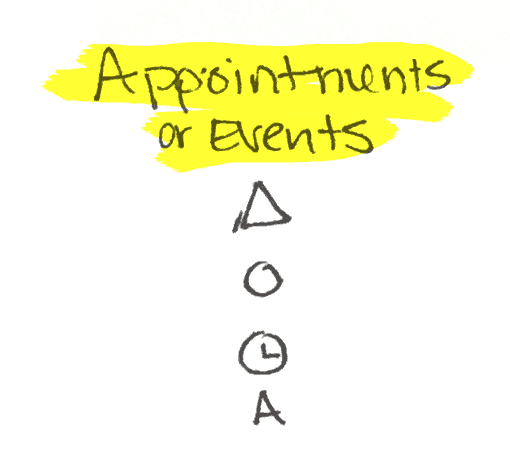 Appointments or Events - Bullet Journal Symbols