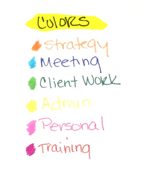Color Coding Your Bullet Journal