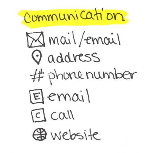 Communication Icons Bullet Journalling