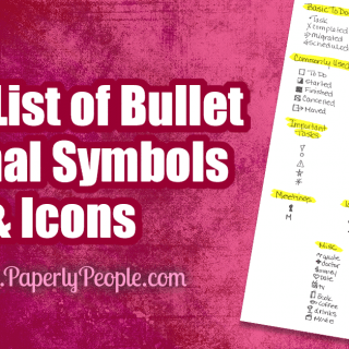 HUGE List of Bullet Journal Symbols and Icons