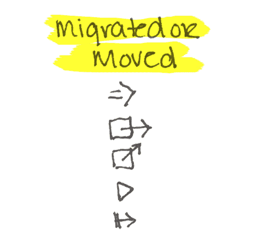 Migrated or Moved - Bullet Journal Symbols