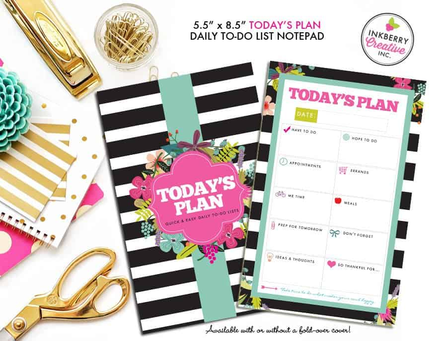 Daily Printed To Do List - Inkberry Creative