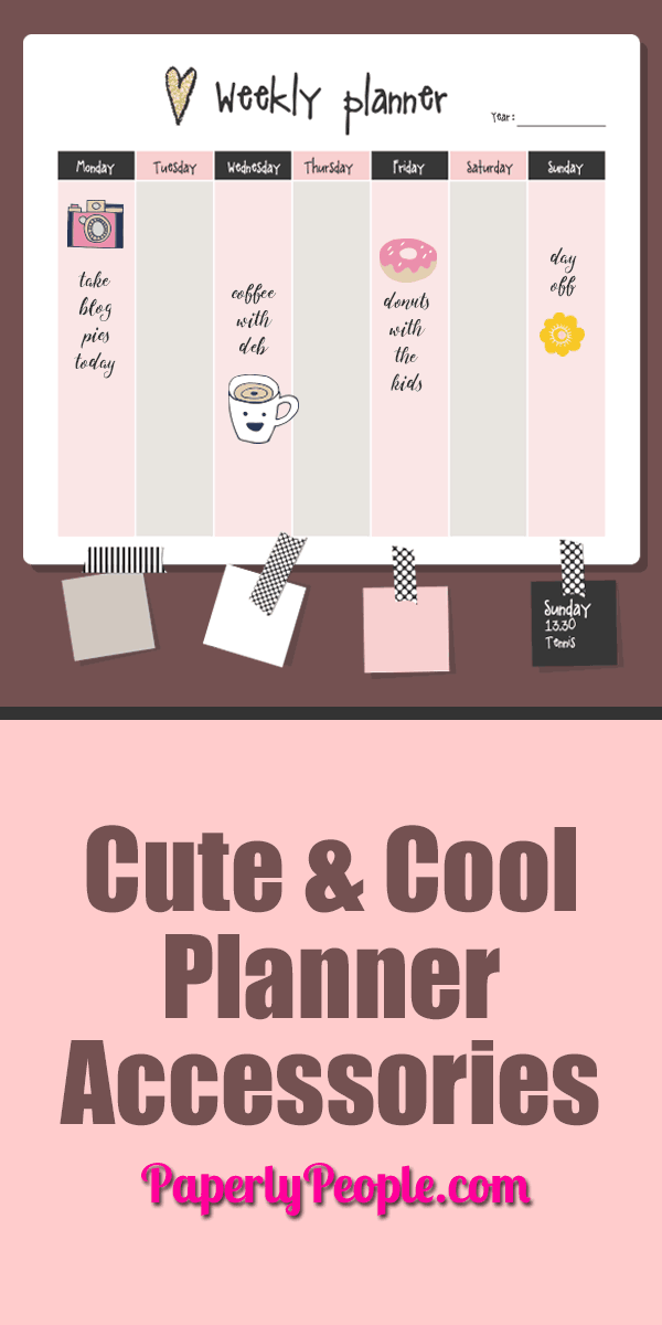 Cute and Cool Planner Accessories ... Planners can be so boring! But they don't have to be. There are so many cute ways to jazz them up and cool ways to keep your interest. Here are a few.