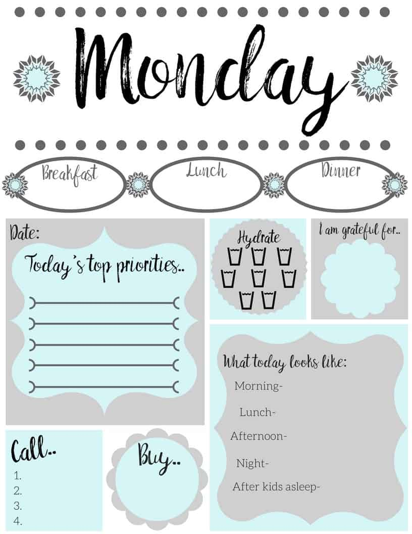 Huge Printable To Do List - Simply Happy Mama