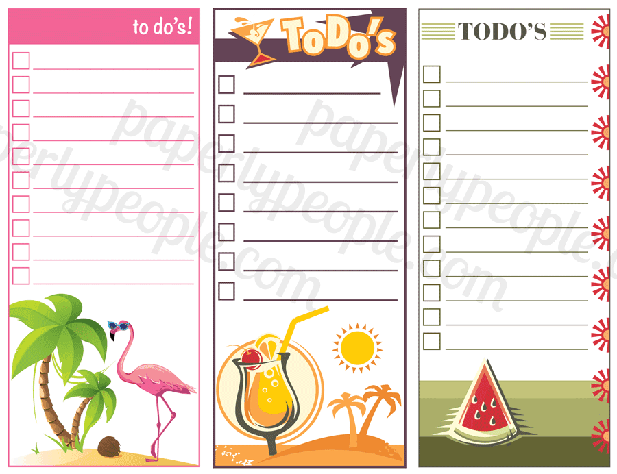 Printable To Do Lists - Summer Edition