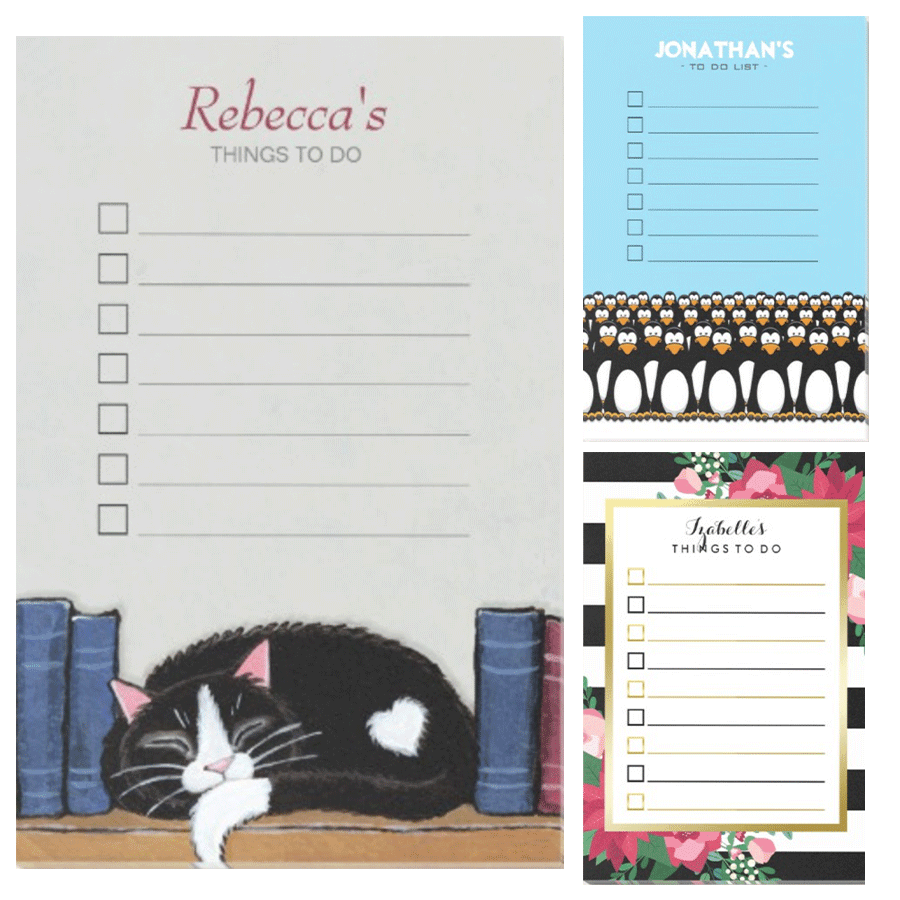 Zazzle To Do List Postits