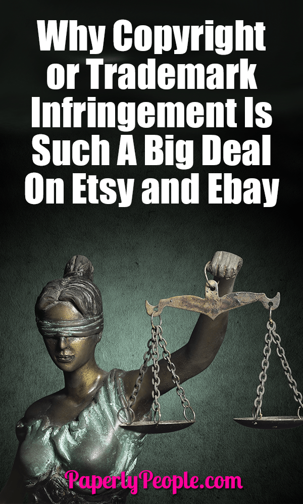 Why Copyright or Trademark Infringement Is Such A Big Deal On Etsy and Ebay... Copyrights and Trademarks, also known as Intellectual Property (IP), are rights people have to creations of the mind: inventions, literary and artistic works, and symbols, names, images, and designs used in commerce.