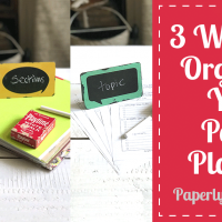 3 Ways to Organize Your Planner | Chronologic, Topic & Section
