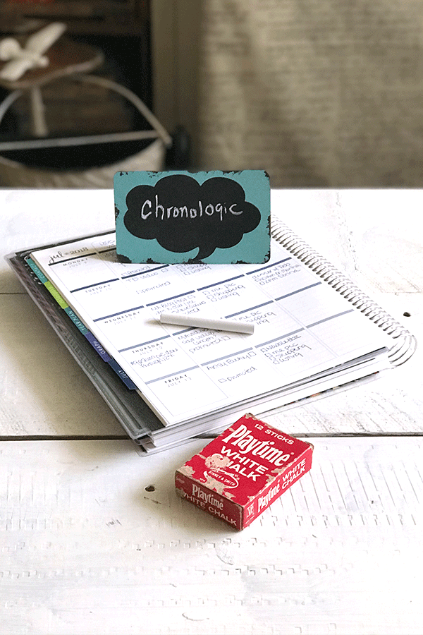 Organizing Your Planner Chronologically - Part of my 3 ways to organize your planner post! #planner #plannernerd