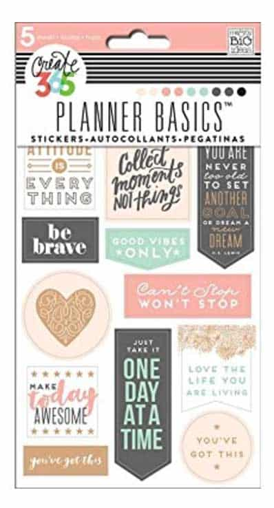 Create 365 - Affirmation Planner Stickers