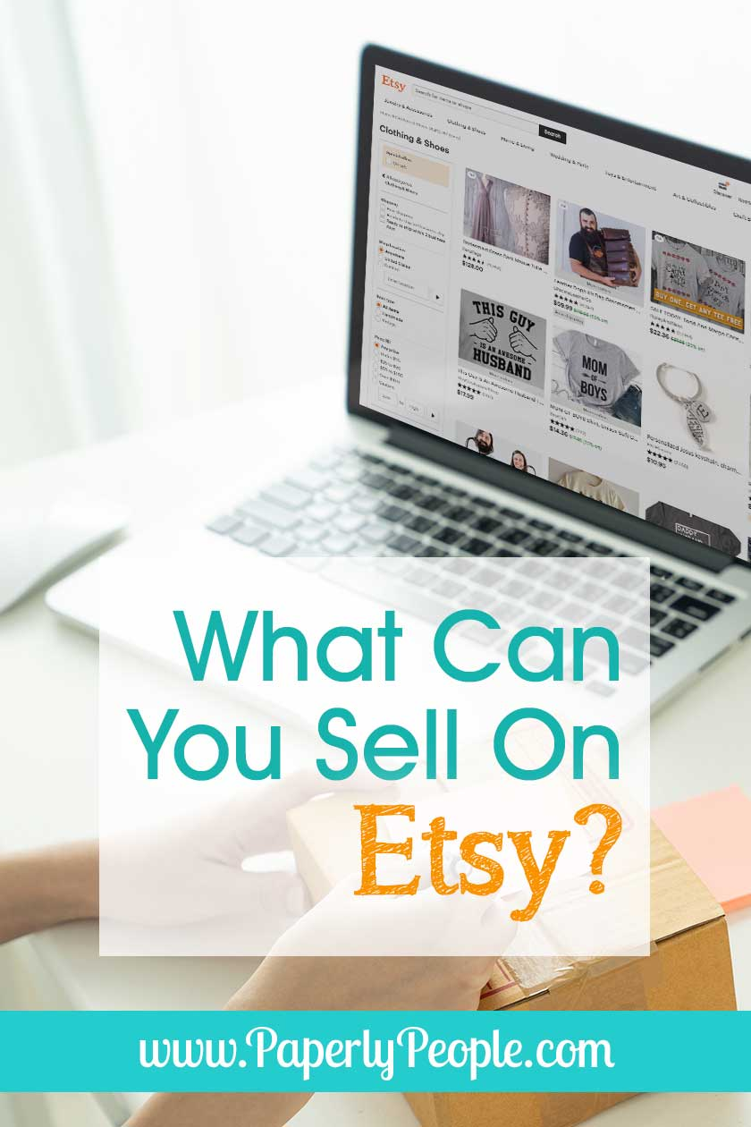 What Can You Sell On Etsy... Looking for how to start your Etsy shop? Tips and ideas for choosing between handmade, printables, craft supplies and vintage products. #etsyseller #etsyshop