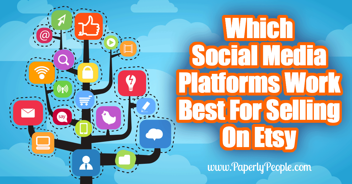 Which Social Media Platforms Work Best For Selling On Etsy... Here's how to figure out which social media platforms work best YOU selling on Etsy!