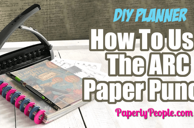 How To Use The ARC Paper Punch To Make A DIY Planner.... I won't lie to you, the ARC Paper Punch was the weirdest, most confusing part of the whole process when I was considering doing a disc bound planner. Here are my best tips and ideas for how to use the ARC Paper Punch!