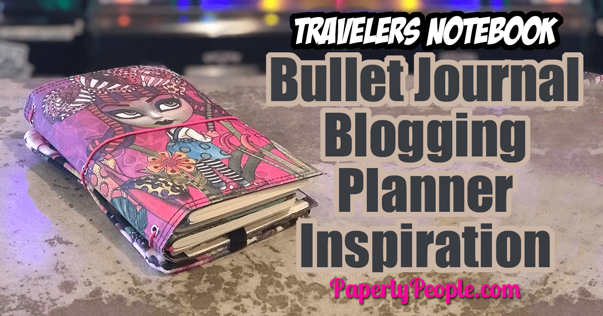 Bullet Journal Blogging Planner Inspiration - I thought I would give you an inspiration peek into my blogging planner! I use a Dyan Reaveley Dyalog travelers notebook and bullet journal pages to keep track of all my blog ideas and use a custom tracker to record stats!