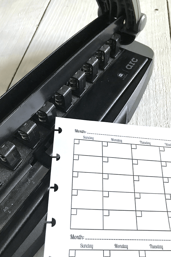 Disc bound planner punch holes - Staples arc planner, Planner tools and accesories