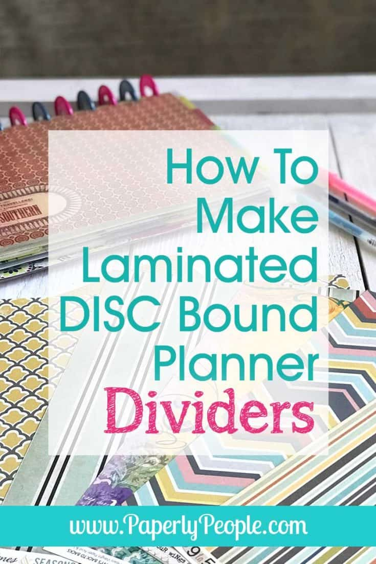 With all the scrapbook paper I have laying around I thought it would be a great idea to make DIY laminated divider pages for my letter sized disc bound ARC or Levenger planner! It is wicked easy to do and helps so much with planner organization. You can even use them as covers (I do!)