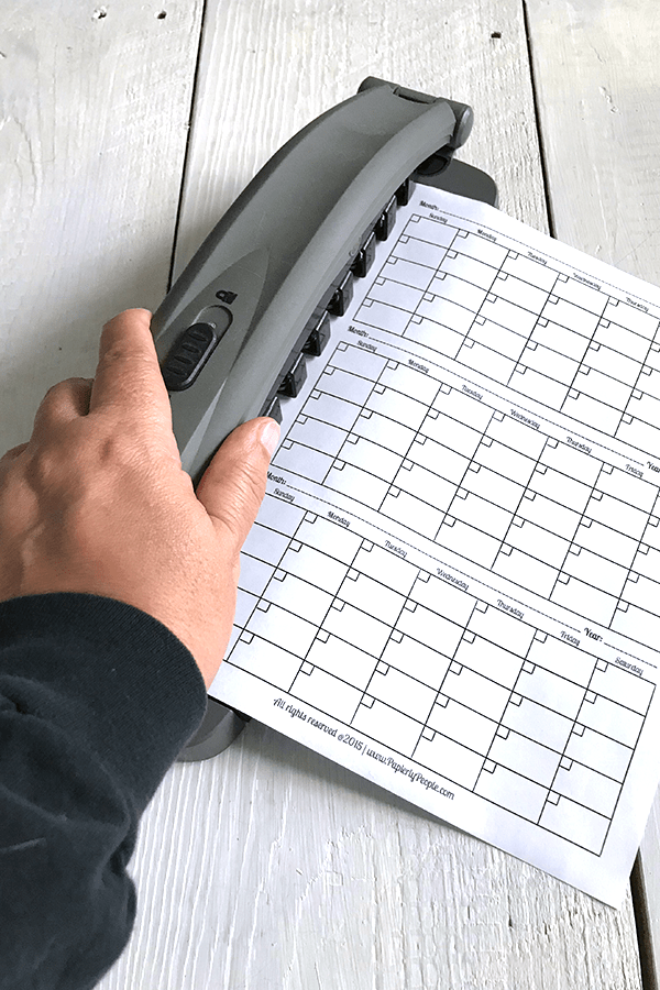 Punching The Holes - DIsc Bound Planner Punch Staples Arc.... Planner Accessories and Tools