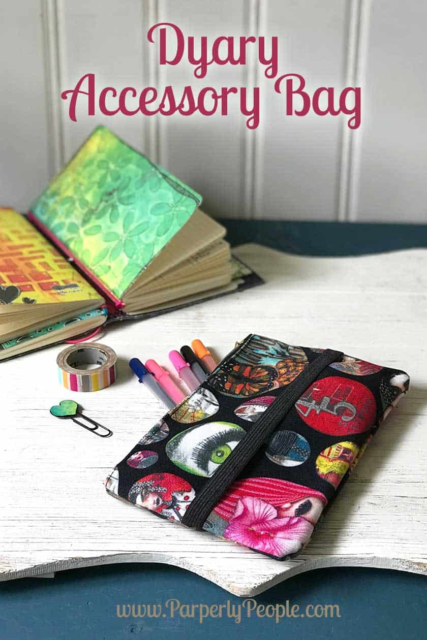 """Ranger Ink Dylusions Dyalog Accessory Bag - Perfect for storing all your planner """"stuff"""" in your travelers journal. From my great accessories products post!"""