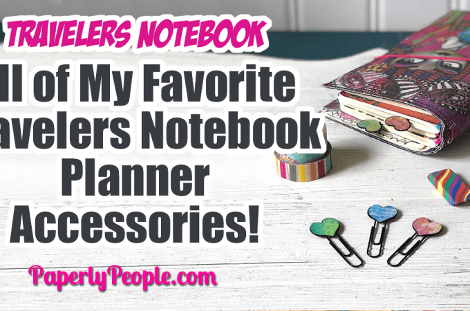All of My Favorite Travelers Notebook Planner Journal Accessories ... Here are my top tips and ideas for putting together your own DIY travelers journal. From inserts and covers to clips and washi tape, I show all my favorite accessories and let you know where to get them! #bujo #planner #travelersjournal