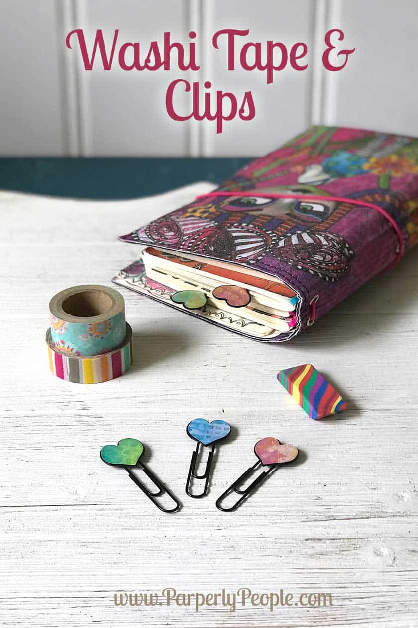 Clips and Washi Tape For Your Travelers Notebook Accessories