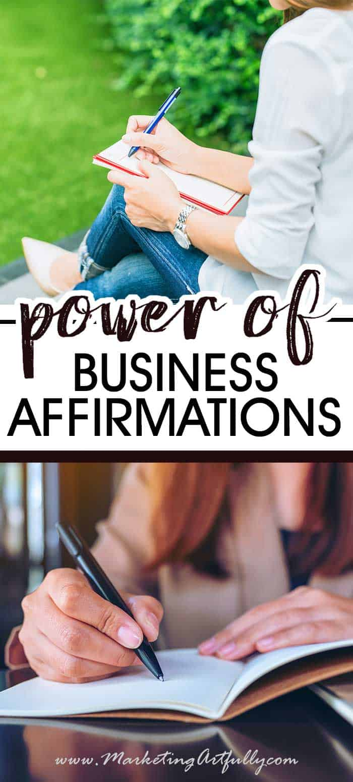 Affirmations for women business owners… one of the very best ways I have found to focus on money and wealth. Using positive affirmations and the law of attraction daily can help achieve your goals and increase your business confidence!  #affirmations #goals #goalsetting
