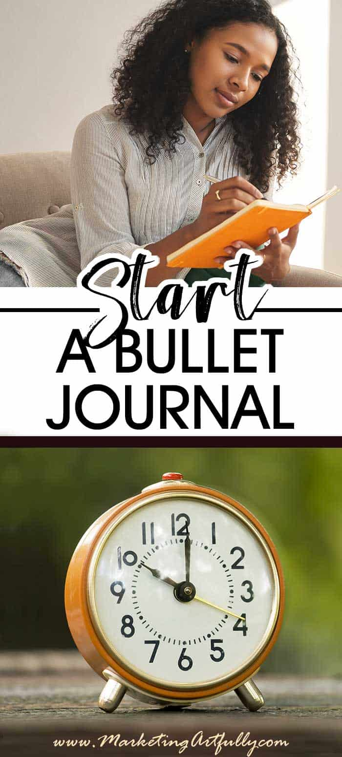 Getting Started With Your Bullet Journal... How to get started using a bullet journal. Tips and ideas for bullet journalling including symbols, daily, weekly and monthly spread. How to do tasks and events. #bujo #timemanagement #bulletjournal