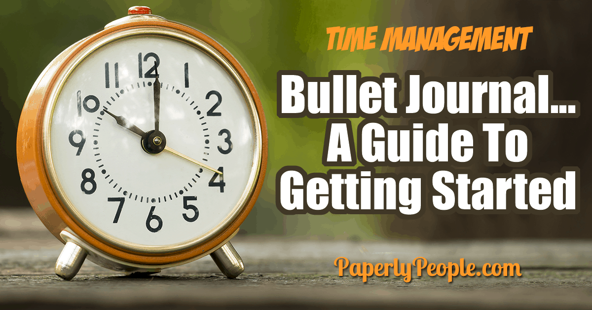 Bullet Journaling getting started guide… a great way to focus on time management. Tips and ideas for how to start a bullet journal. Includes organizing your weekly, monthly and daily tracker. A great overview to get you started! #bujo #bulletjournal #howto