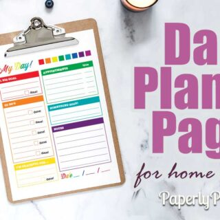 Daily printable planner pages