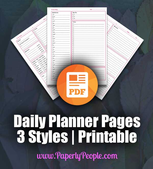 Classic Business Planner Daily Pages Printable